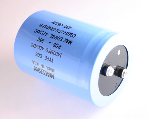 Picture of CGS142T400X4C3PH MALLORY capacitor 1,400uF 400V Aluminum Electrolytic Large Can Computer Grade