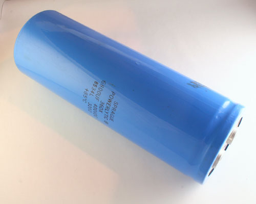 Picture of 36DX10991 SPRAGUE capacitor 6,800uF 400V Aluminum Electrolytic Large Can Computer Grade