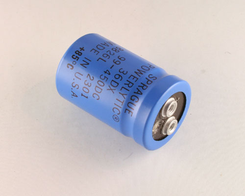 Picture of 36DX990T450AA2A SPRAGUE capacitor 99uF 450V Aluminum Electrolytic Large Can Computer Grade