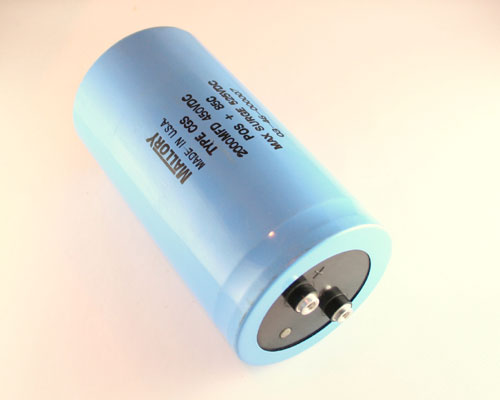 Picture of CGS202T450X5L MALLORY capacitor 2,000uF 450V Aluminum Electrolytic Large Can Computer Grade