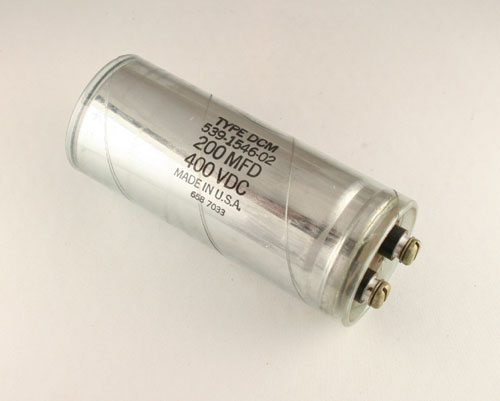 Picture of DCM201G400EC SANGAMO-CDE capacitor 200uF 400V Aluminum Electrolytic Large Can Computer Grade