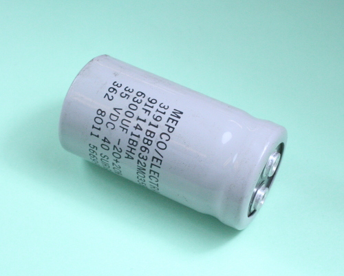 Picture of 3191BB632M035BAM1 MEPCO capacitor 6,300uF 35V Aluminum Electrolytic Large Can Computer Grade