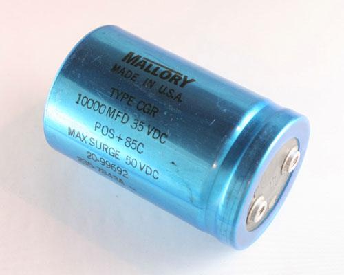 2x 10000uF 35V Large Can Electrolytic Aluminum Capacitor 10000mfd 10,000 35VDC