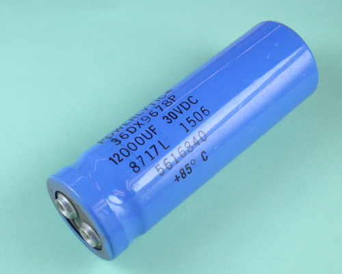 Picture of 36DX123G030AC2A SPRAGUE capacitor 12,000uF 30V Aluminum Electrolytic Large Can Computer Grade
