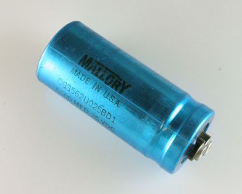 Picture of CGS562U025BD1 MALLORY capacitor 5,600uF 25V Aluminum Electrolytic Large Can Computer Grade