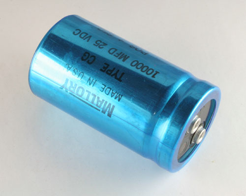 Picture of CG103U025R3C MALLORY capacitor 10,000uF 25V Aluminum Electrolytic Large Can Computer Grade High Temp