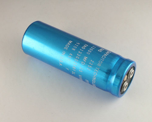 Picture of FAO133G025BF1L CAPACITOR TECHNOLOGY capacitor 13,000uF 25V Aluminum Electrolytic Large Can Computer Grade