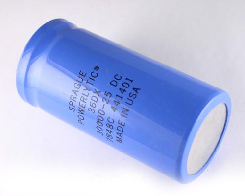 Picture of 36DX303G025BC2A SPRAGUE capacitor 30,000uF 25V Aluminum Electrolytic Large Can Computer Grade