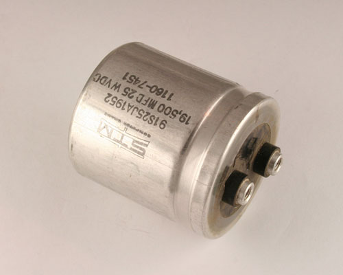 Picture of 91B1952T25 STM capacitor 19,500uF 25V Aluminum Electrolytic Large Can Computer Grade