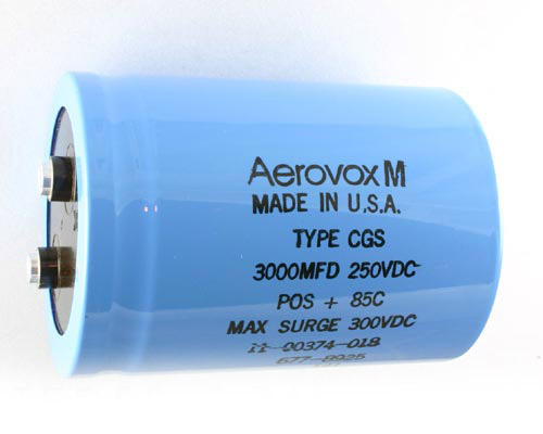 Picture of CGS302T250X4C MALLORY capacitor 3,000uF 250V Aluminum Electrolytic Large Can Computer Grade