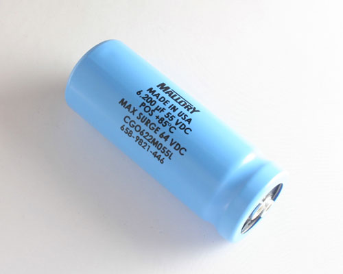 Picture of CGO622M055L MALLORY capacitor 6,200uF 55V Aluminum Electrolytic Large Can Computer Grade
