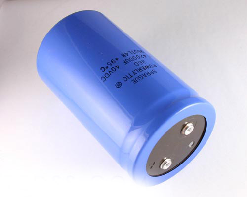 Picture of 36D423G040DE2A SPRAGUE capacitor 42,000uF 40V Aluminum Electrolytic Large Can Computer Grade