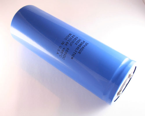 Picture of 36DX682F400DJ2A SPRAGUE capacitor 6,800uF 400V Aluminum Electrolytic Large Can Computer Grade