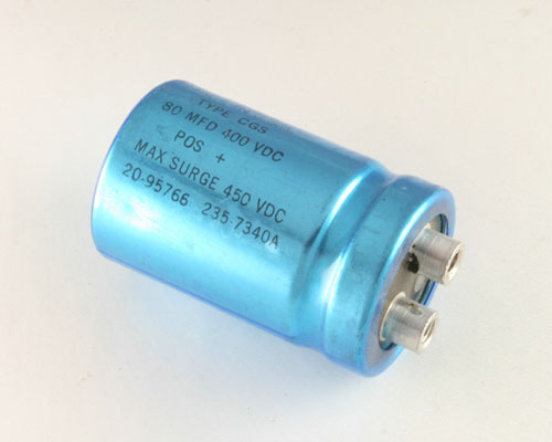 Picture of CGS800T400R2C MALLORY capacitor 80uF 400V Aluminum Electrolytic Large Can Computer Grade