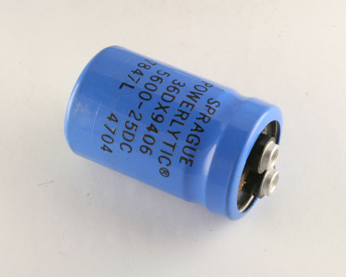 Picture of 36DX562F025AA2B SPRAGUE capacitor 5,600uF 25V Aluminum Electrolytic Large Can Computer Grade