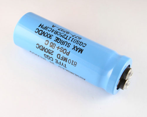Picture of CGS811T250R4C3PH AERO-M capacitor 810uF 250V Aluminum Electrolytic Large Can Computer Grade
