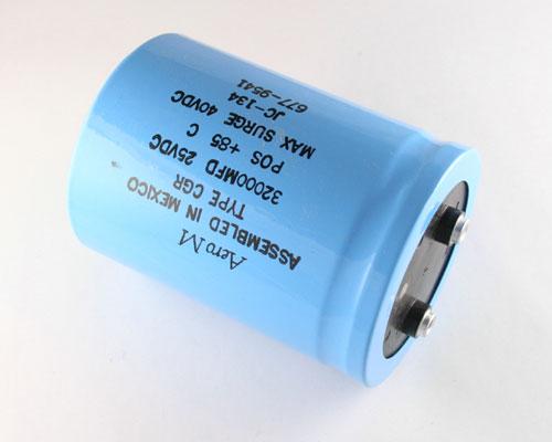 Picture of CGR323U025X4C3PH AERO-M capacitor 32,000uF 25V Aluminum Electrolytic Large Can Computer Grade