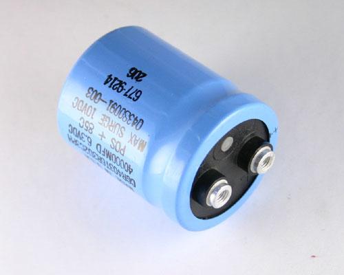 Picture of CGR403T6R3U2C3PL AERO-M capacitor 40,000uF 6.3V Aluminum Electrolytic Large Can Computer Grade