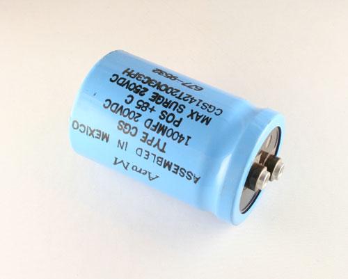 Picture of CGS142T200B3C3PH AERO-M capacitor 1,400uF 200V Aluminum Electrolytic Large Can Computer Grade