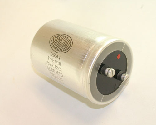 Picture of DCM302U150BD2B SANGAMO capacitor 3,000uF 150V Aluminum Electrolytic Large Can Computer Grade