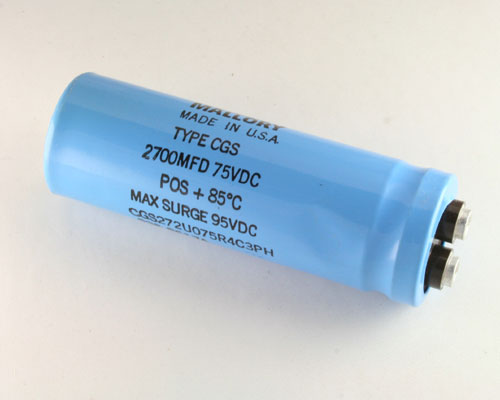 Picture of CGS272U075R4C3PH MALLORY capacitor 2,700uF 75V Aluminum Electrolytic Large Can Computer Grade