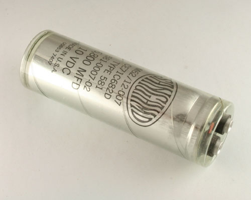 Picture of CE71C682D SANGAMO capacitor 6,800uF 10V Aluminum Electrolytic Large Can Computer Grade