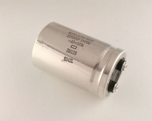 Picture of M39018/04-0026 UNITED CHEMICON capacitor 22,000uF 15V Aluminum Electrolytic Large Can Computer Grade