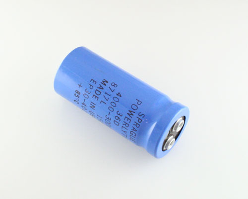 Picture of 36D402G030AB2A SPRAGUE capacitor 4,000uF 30V Aluminum Electrolytic Large Can Computer Grade