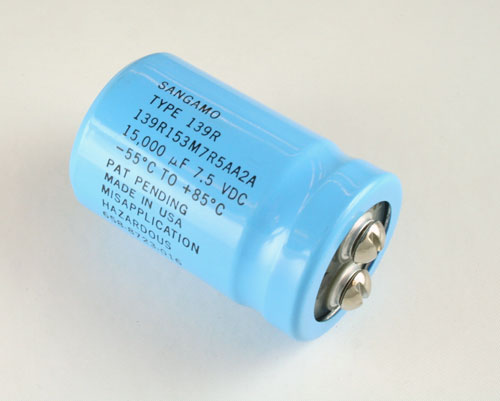 Picture of 139R153M7R5AA2A SANGAMO-CDE capacitor 15,000uF 7.5V Aluminum Electrolytic Large Can Computer Grade