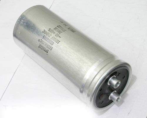 Picture of 602D2315 SPRAGUE capacitor 1,000uF 250V Aluminum Electrolytic Large Can Computer Grade