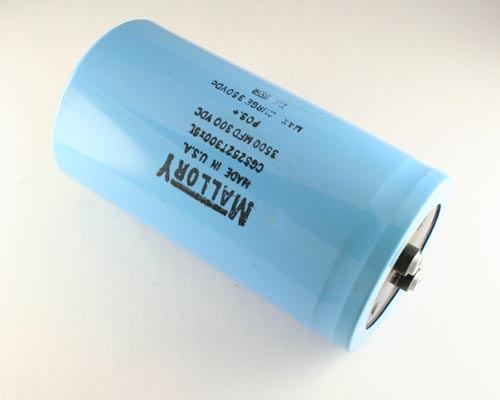 Picture of CGS252T300X5L MALLORY capacitor 2,500uF 300V Aluminum Electrolytic Large Can Computer Grade