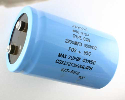 Picture of CGS222T350X4L4PH AERO-M capacitor 2,200uF 350V Aluminum Electrolytic Large Can Computer Grade