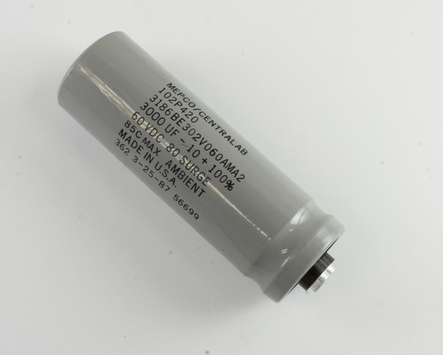 Picture of 3186BE302V060AMA2 MEPCO capacitor 3,000uF 60V Aluminum Electrolytic Large Can Computer Grade