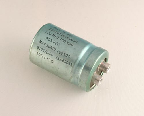 Picture of CG170T150RCC3H MALLORY capacitor 170uF 150V Aluminum Electrolytic Large Can Computer Grade