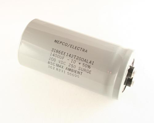Picture of 3186EE142T200ALA1 PHILIPS capacitor 1,400uF 200V Aluminum Electrolytic Large Can Computer Grade