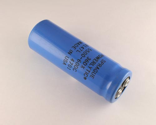 Picture of 36DX552G060AC2A SPRAGUE capacitor 5,500uF 60V Aluminum Electrolytic Large Can Computer Grade