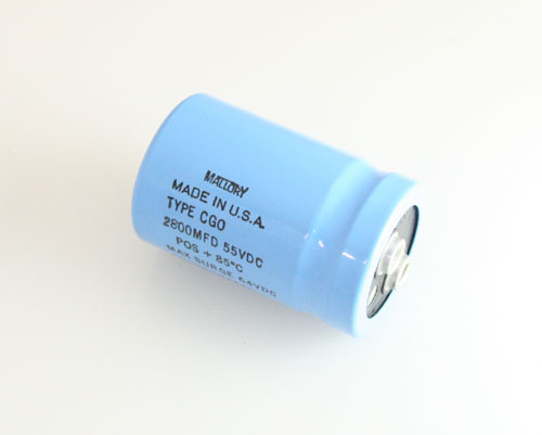 Picture of CGO282M055L MALLORY capacitor 2,800uF 55V Aluminum Electrolytic Large Can Computer Grade