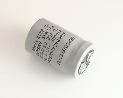 Picture of 3186BA242U050BLA2 MEPCO capacitor 2,400uF 50V Aluminum Electrolytic Large Can Computer Grade