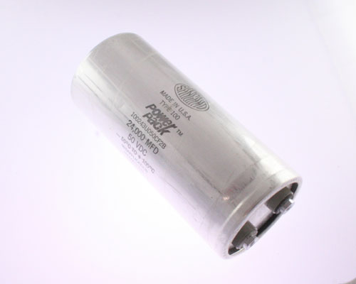 Picture of 100243U050CF2B SANGAMO capacitor 24,000uF 50V Aluminum Electrolytic Large Can Computer Grade