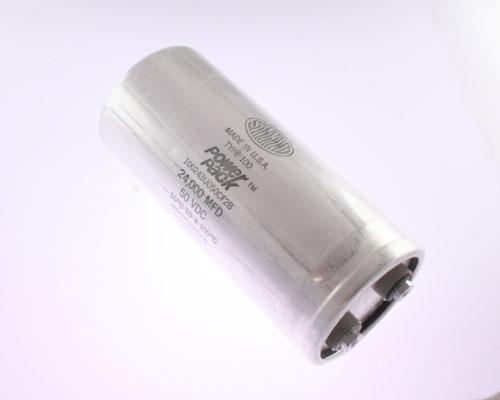 Picture of 100243U050CF2B SANGAMO capacitor 24,000uF 50V Aluminum Electrolytic Large Can Computer Grade