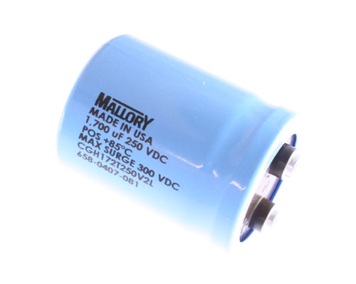 Picture of CGH172T250V2L MALLORY capacitor 1,700uF 250V Aluminum Electrolytic Large Can Computer Grade