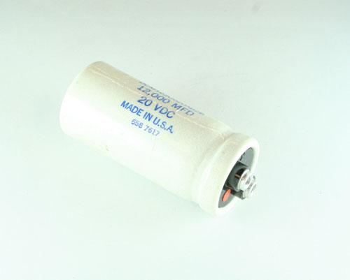 Picture of DCM123U020AB2B SANGAMO capacitor 12,000uF 20V Aluminum Electrolytic Large Can Computer Grade