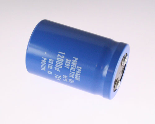 Picture of 36DY123F075BB2A SPRAGUE capacitor 12,000uF 75V Aluminum Electrolytic Large Can Computer Grade High Temp