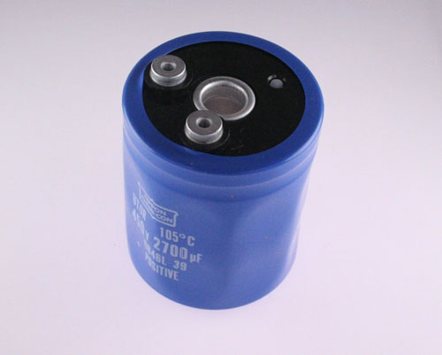 Picture of ETOR451CTH272ME92M UCC capacitor 2,700uF 450V Aluminum Electrolytic Large Can Computer Grade High Temp