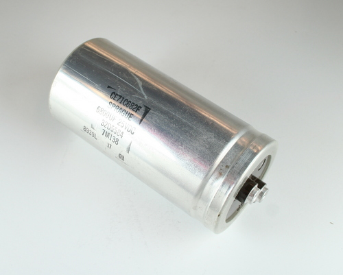 Picture of CE71C682F SPRAGUE capacitor 6,800uF 25V Aluminum Electrolytic LARGE CAN COMPUTER GRADE