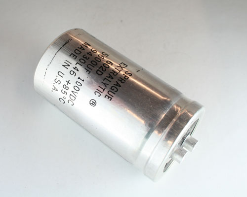 Picture of 602D562F100BL2B SPRAGUE capacitor 5,600uF 100V Aluminum Electrolytic Large Can Computer Grade