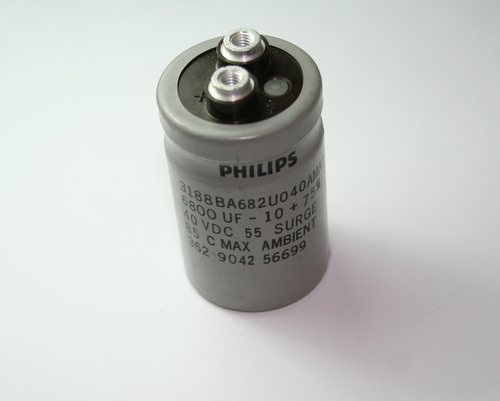 Picture of 3188BA682U040AMA1 PHILIPS capacitor 6,800uF 40V Aluminum Electrolytic Large Can Computer Grade