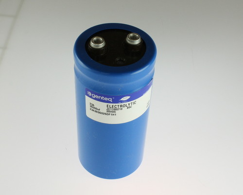 Picture of 23A303G025DF1H1 Genteq capacitor 30,000uF 25V Aluminum Electrolytic Large Can Computer Grade