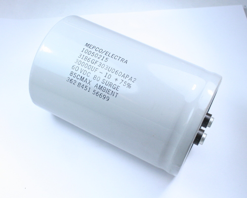 Picture of 3186GF303U060APA2 MEPCO capacitor 30,000uF 60V Aluminum Electrolytic Large Can Computer Grade