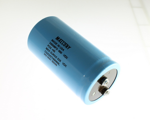 Picture of CGS242T450W4L MALLORY capacitor 2,400uF 450V Aluminum Electrolytic Large Can Computer Grade